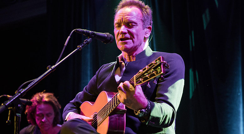 Sting performing at the 2017 American Academy of Achievement International Summit